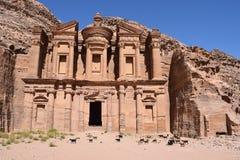 EL Deir - il monastero fotografia stock libera da diritti