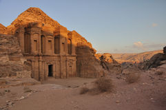 El Deir (The Monastery). The Monastery, Petra's largest monument, dates from the 1st century BCE. It was dedicated to Obodas I and is believed to be the Stock Photos