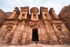 EL Deir o il monastero a PETRA, Giordania Immagine Stock