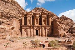 EL Deir o il monastero a PETRA, Giordania Immagine Stock Libera da Diritti