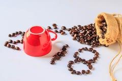 el ` 2018 del ` de la letra hace de los granos de café Fotos de archivo libres de regalías