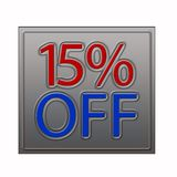 El 15% del ejemplo de la oferta del descuento stock de ilustración
