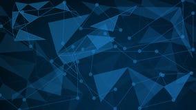 El 16:9 del fondo de triángulos en azul colorea el fondo Illust stock de ilustración