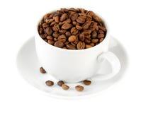 El  del offeeÑ del ¡de Ð para arriba impregnó el café del grano Imagen de archivo libre de regalías