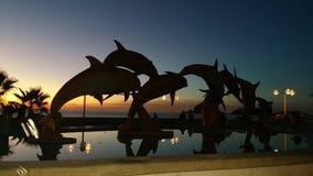 El Delfin, malecon 免版税库存图片