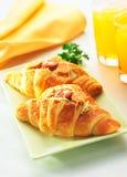 El delicioso del Croissant Fotografía de archivo