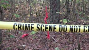 El delito sexual o la escena del crimen no cruza almacen de metraje de vídeo