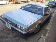 """El DeLorean DMC-12 es un coche de deportes manufacturado por DeLorean Motor Company de John DeLorean para el †americano """"83 del foto de archivo libre de regalías"""