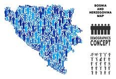 El Demographics Bosnia y Herzegovina traza ilustración del vector