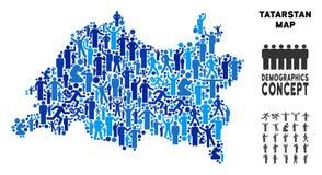 El Demographics Tartaristán traza libre illustration