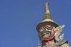 El demonio o el guarda gigante en Wat Phra Kaew, o el templo de Imagen de archivo libre de regalías