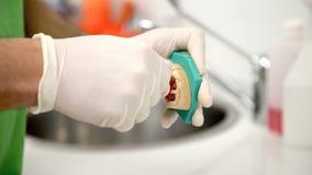 El dentista dental se opone la clínica almacen de metraje de vídeo