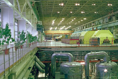 El departamento principal de la fabricación de la energía eléctrica Imagen de archivo libre de regalías