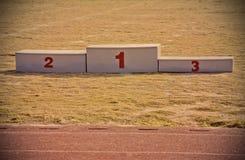 El deporte concede el podio Fotos de archivo libres de regalías