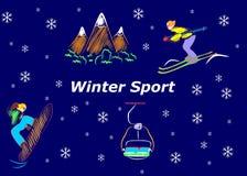 El deporte de invierno stock de ilustración
