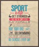 El deporte es vida Fotografía de archivo libre de regalías