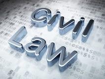 El derecho civil de plata en fondo digital ilustración del vector