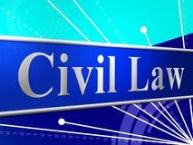 El derecho civil representa legalidad del juicio y legal Fotos de archivo libres de regalías
