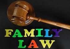 El derecho de familia Imágenes de archivo libres de regalías