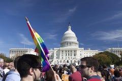 El derecho de los homosexuales marzo, 11 de octubre de 2009 Fotografía de archivo