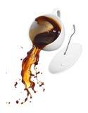 El derramarse del café Fotos de archivo libres de regalías