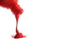 El derramarse del color Imagen de archivo libre de regalías