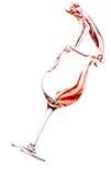 El derramarse del vino rojo foto de archivo libre de regalías