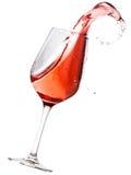 El derramarse del vino rojo fotos de archivo libres de regalías