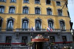 El DES Indes del hotel es uno del hotel famoso en Den Haag The Hague en los Países Bajos en donde durmieron muchos celibraties fotografía de archivo