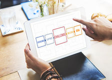 El desafío de la ambición del objetivo supera concepto de la meta imagen de archivo libre de regalías
