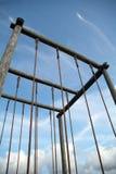 El desafío Ropes vertical Fotografía de archivo libre de regalías