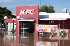 El desastre Queensland de KFC inunda horizontal Foto de archivo libre de regalías