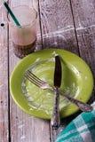 El desayuno ha terminado fotografía de archivo