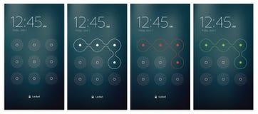 El desbloquear móvil de UI stock de ilustración