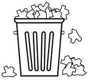 El desbordar con basura Fotos de archivo