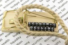 El descenso en la economía Fotografía de archivo libre de regalías