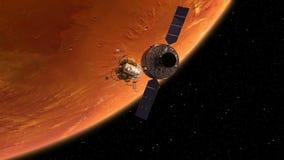 El descolar de la estación espacial y del Lander libre illustration