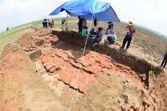 El descubrimiento de un templo antiguo Foto de archivo libre de regalías