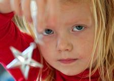 El desear en una estrella Foto de archivo libre de regalías