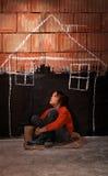 El desear un refugio Fotografía de archivo