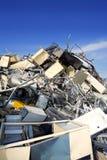 El desecho de metal recicla el ambiente ecológico de la fábrica Foto de archivo libre de regalías