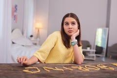 El deseo adolescente atractivo de la muchacha sea delgado Fotografía de archivo libre de regalías