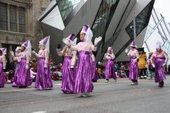 El desfile 2008 de Papá Noel Foto de archivo