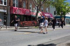 El desfile anual del D?a de los ca?dos de Ridgewood/de Glendale imagen de archivo libre de regalías