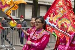 El desfile chino del Año Nuevo, París, Francia Fotografía de archivo