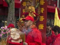 El desfile chino del Año Nuevo, París, Francia Foto de archivo libre de regalías