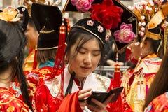 El desfile chino del Año Nuevo, París, Francia Fotos de archivo