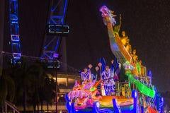 El desfile de Chingay se lleva a cabo durante el Año Nuevo chino Foto de archivo libre de regalías