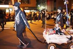 El desfile 2015 de Halloween del pueblo 59 Fotos de archivo