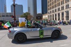 El desfile de Houston St Patrick Fotos de archivo
